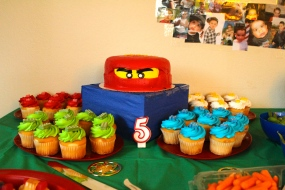 The cake and cupcakes were so awesome and yummy too!